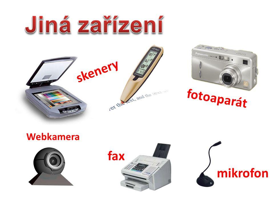 Jiná zařízení skenery fotoaparát Webkamera fax mikrofon trackpoint