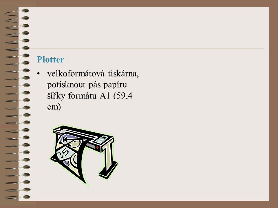 Plotter velkoformátová tiskárna, potisknout pás papíru šířky formátu A1 (59,4 cm)