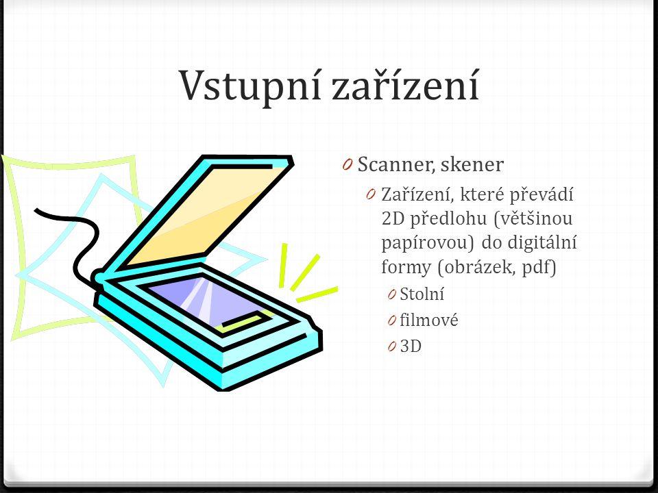 Vstupní zařízení Scanner, skener