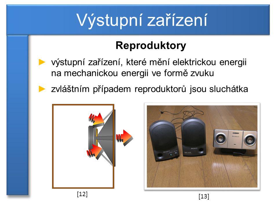 Výstupní zařízení Reproduktory