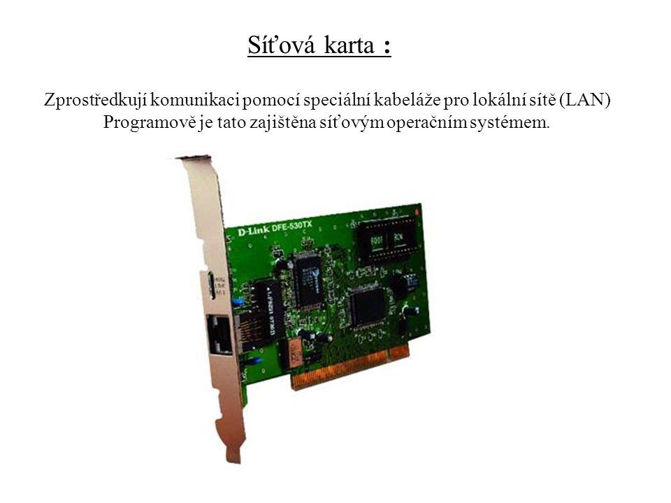 Programově je tato zajištěna síťovým operačním systémem.