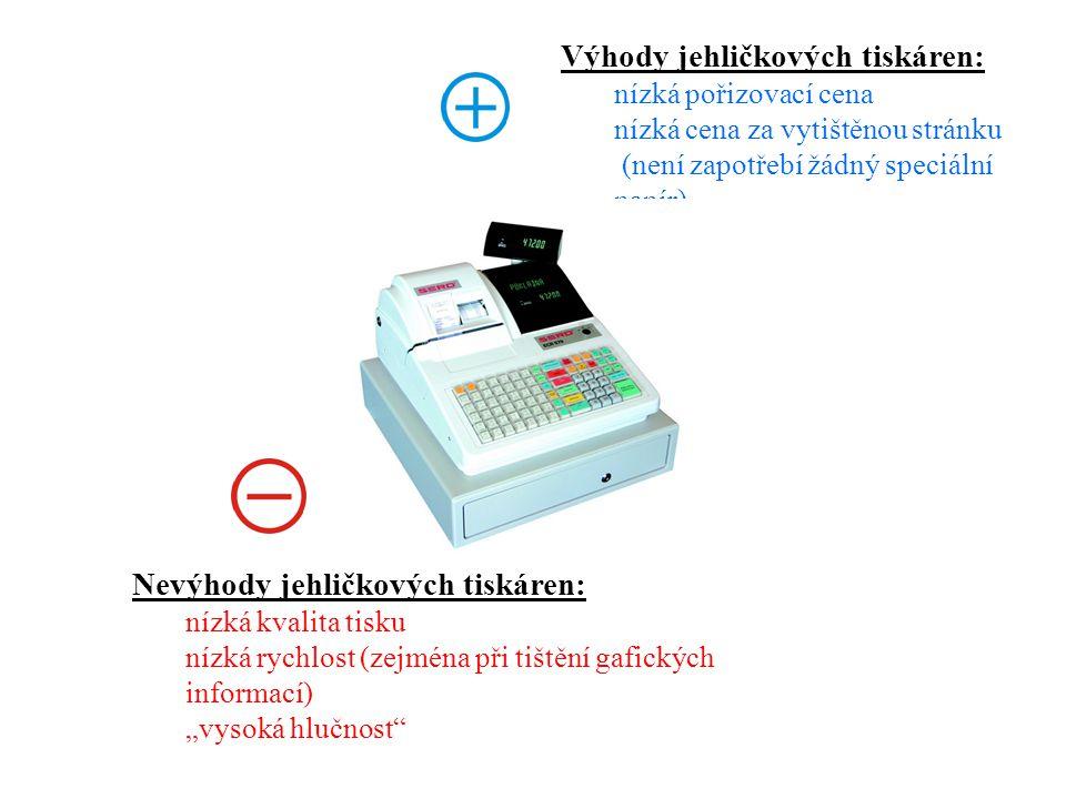 Výhody jehličkových tiskáren:
