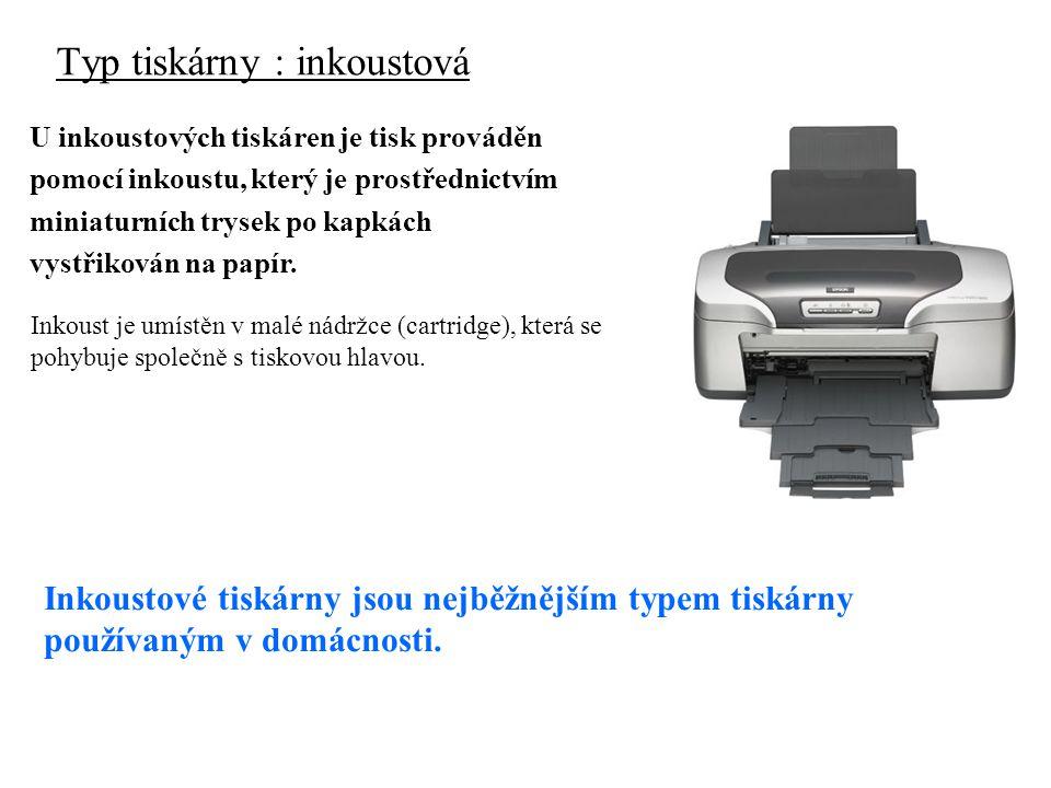 Typ tiskárny : inkoustová