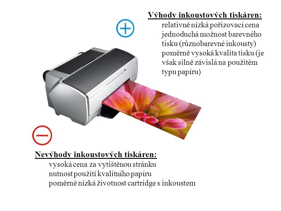 Výhody inkoustových tiskáren:
