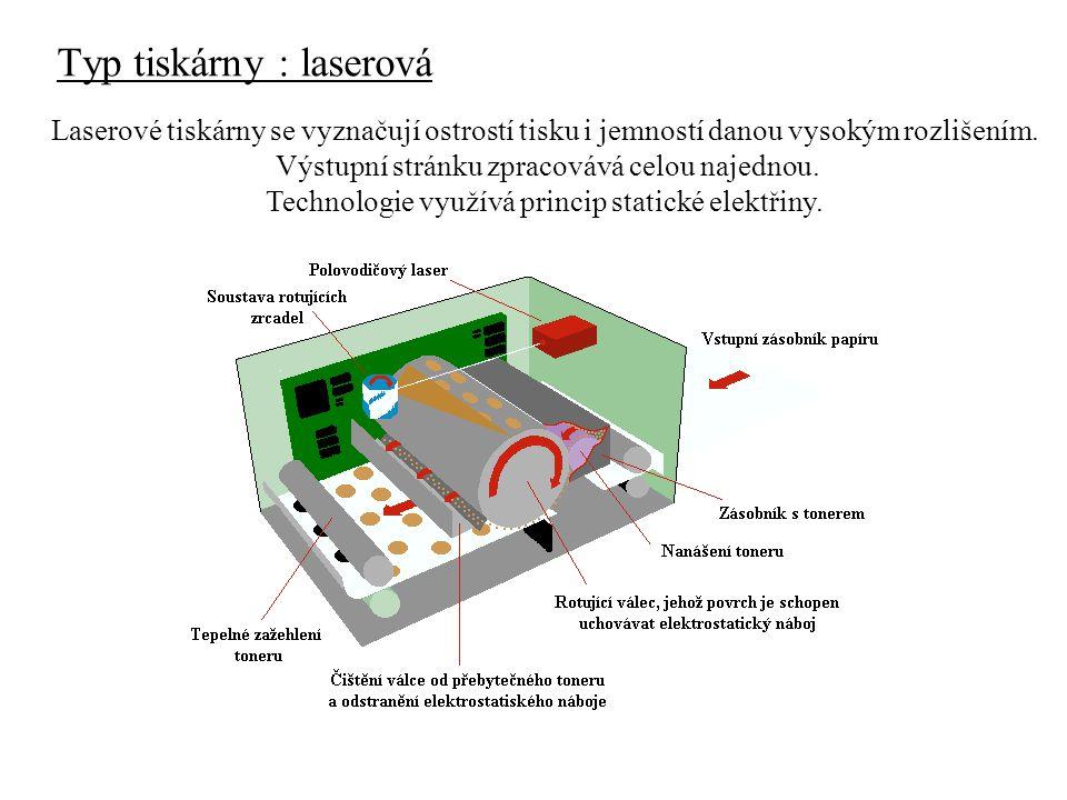 Typ tiskárny : laserová