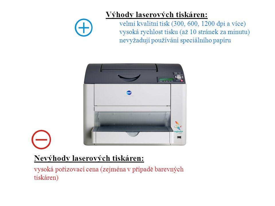 Výhody laserových tiskáren: