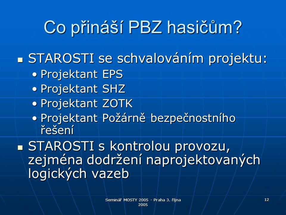 Seminář MOSTY 2005 - Praha 3. října 2005