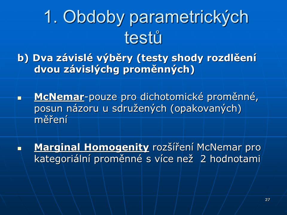 1. Obdoby parametrických testů