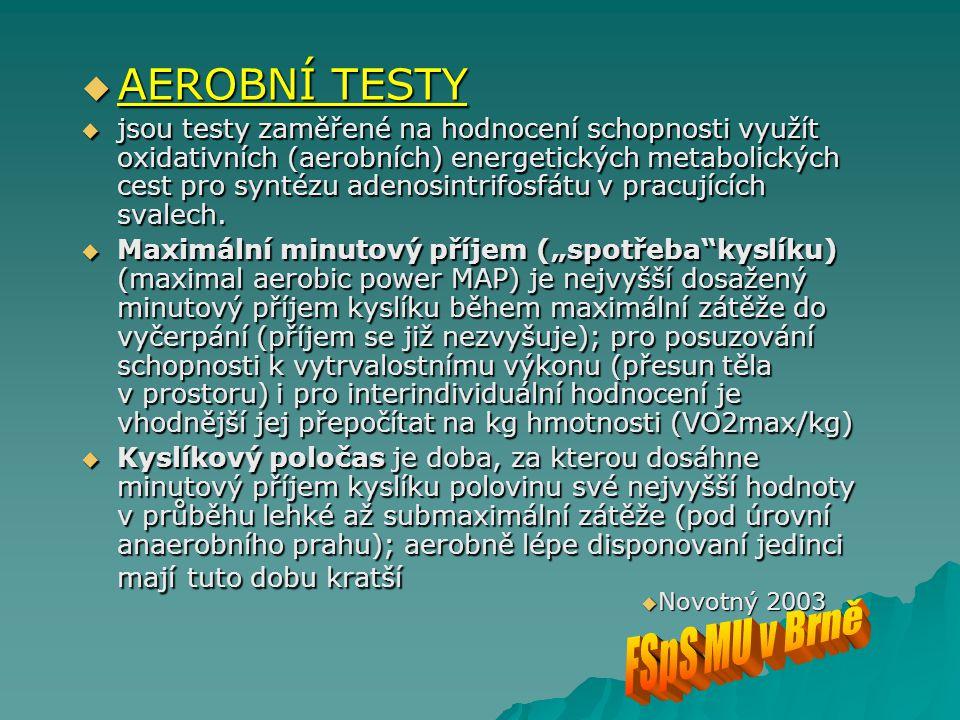 AEROBNÍ TESTY FSpS MU v Brně