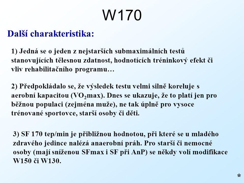 W170 Další charakteristika: *