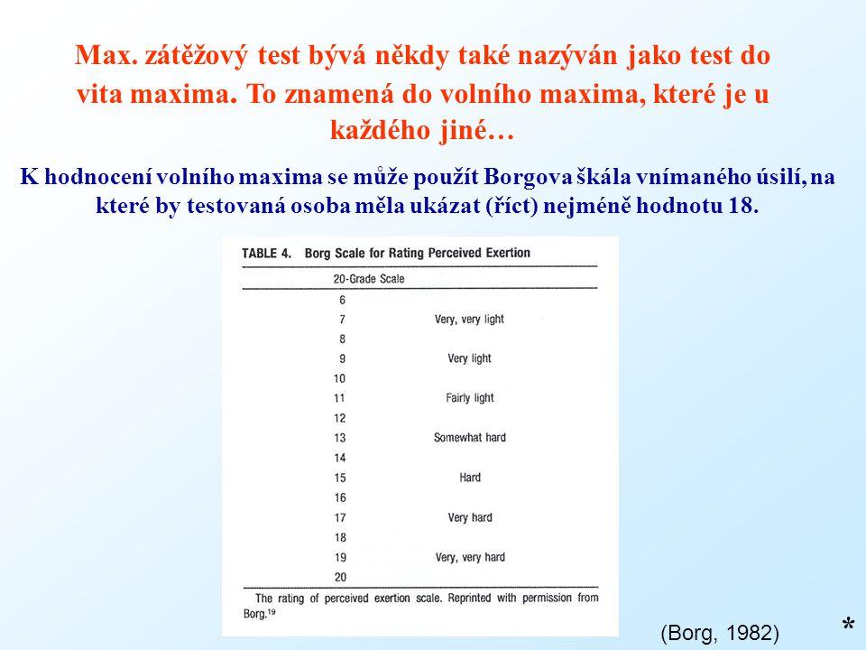 Max. zátěžový test bývá někdy také nazýván jako test do vita maxima