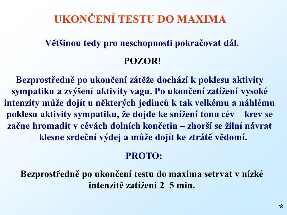 UKONČENÍ TESTU DO MAXIMA