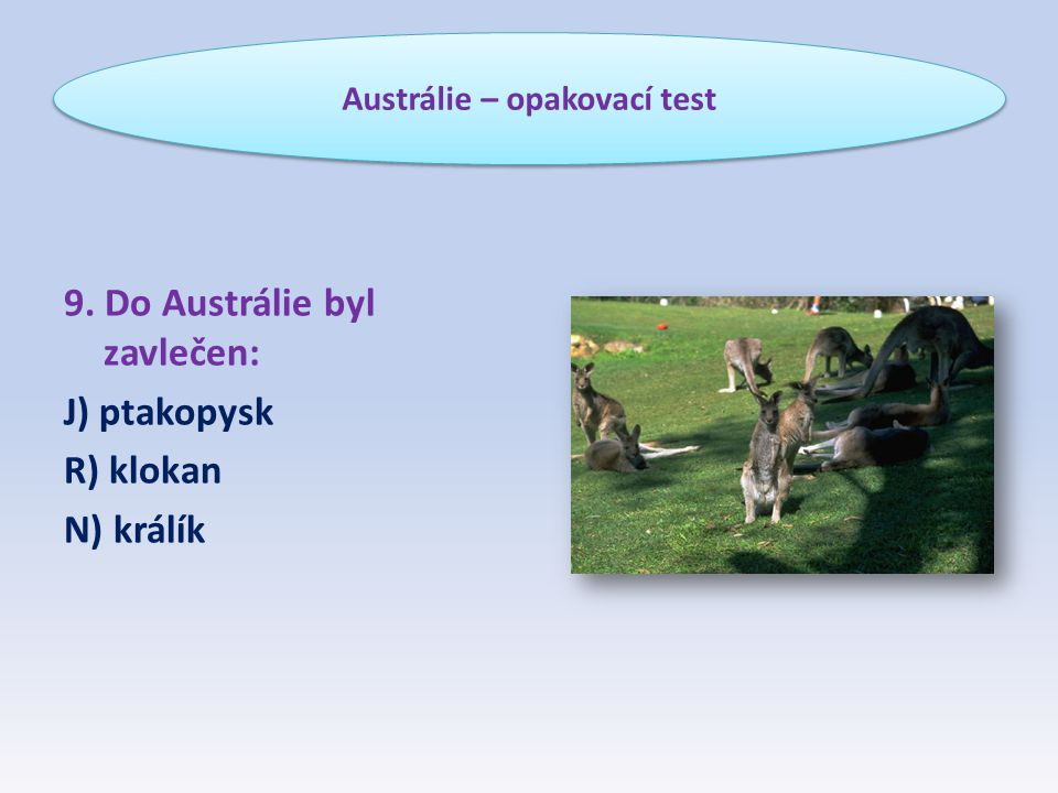 Austrálie – opakovací test
