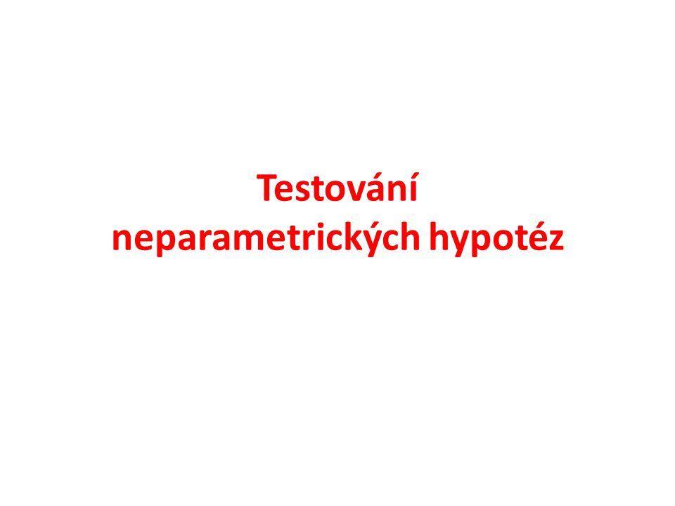 Testování neparametrických hypotéz