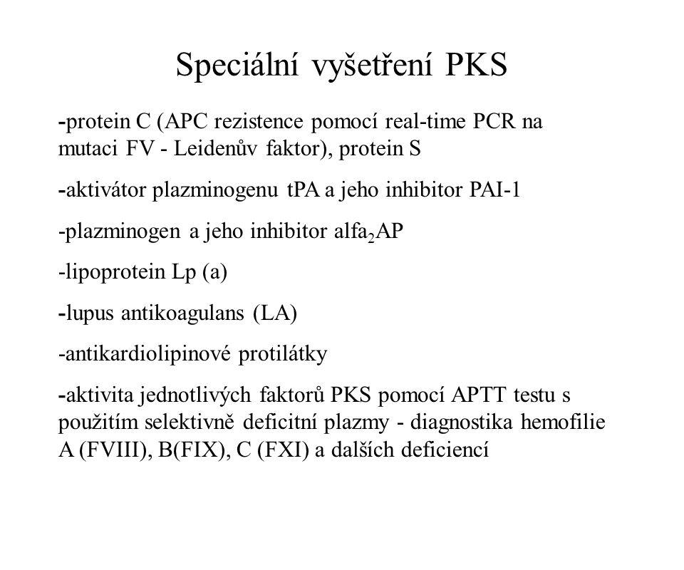 Speciální vyšetření PKS