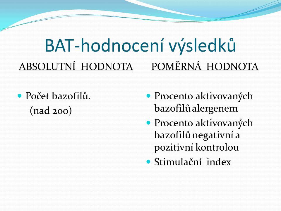 BAT-hodnocení výsledků