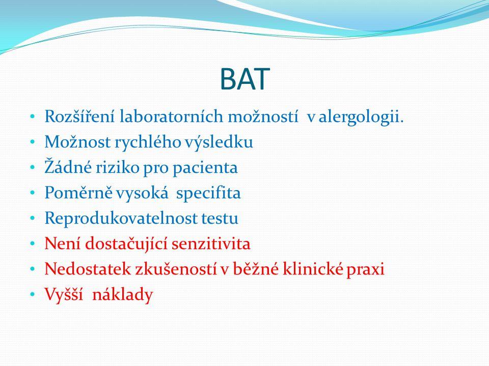 BAT Rozšíření laboratorních možností v alergologii.