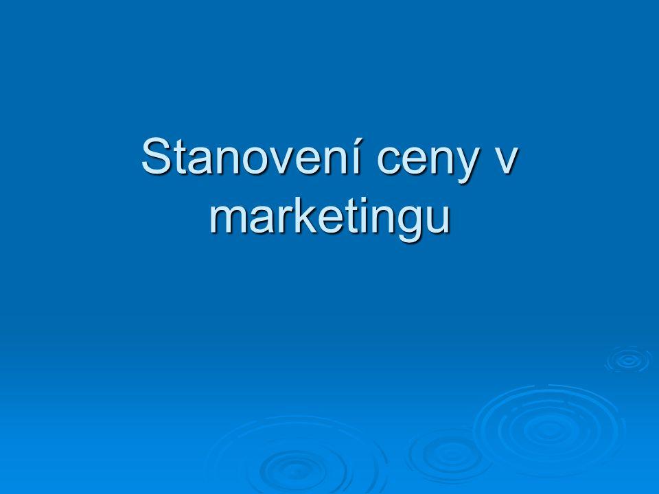 Stanovení ceny v marketingu