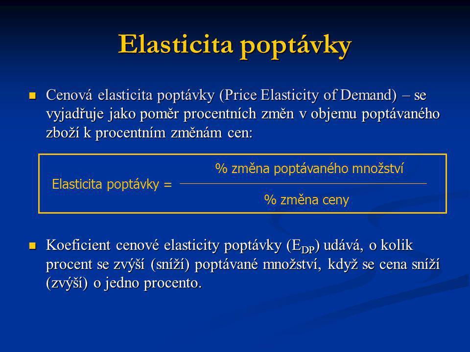 Elasticita poptávky