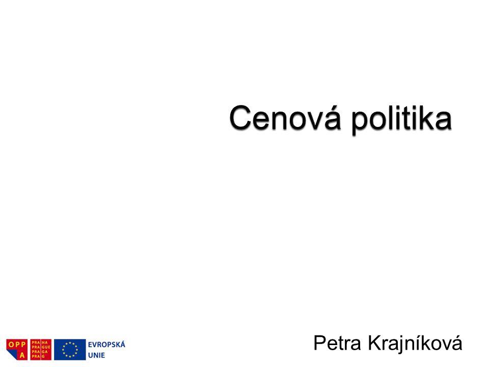 Cenová politika Petra Krajníková