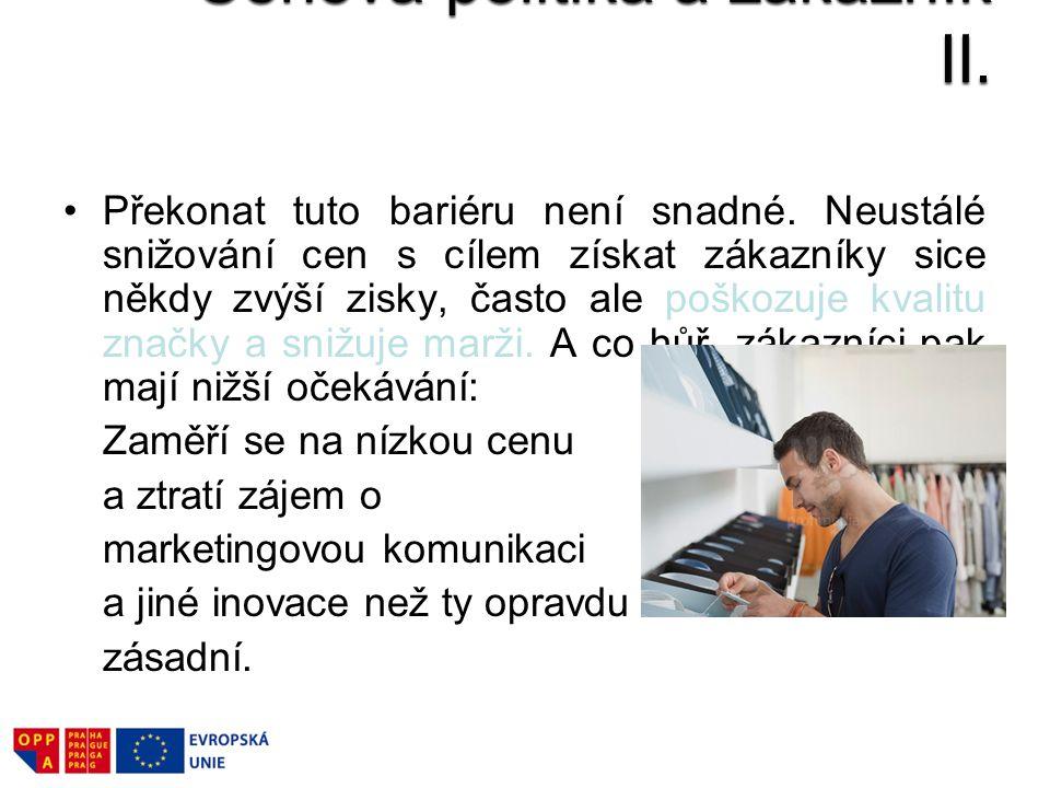 Cenová politika a zákazník II.
