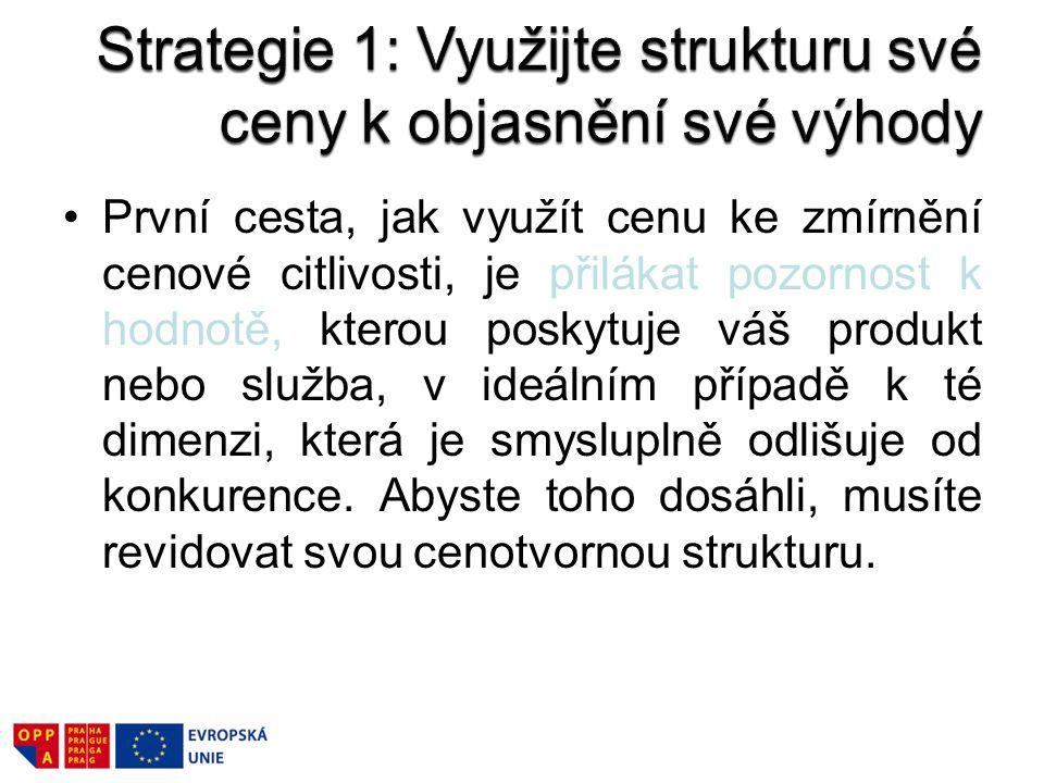 Strategie 1: Využijte strukturu své ceny k objasnění své výhody