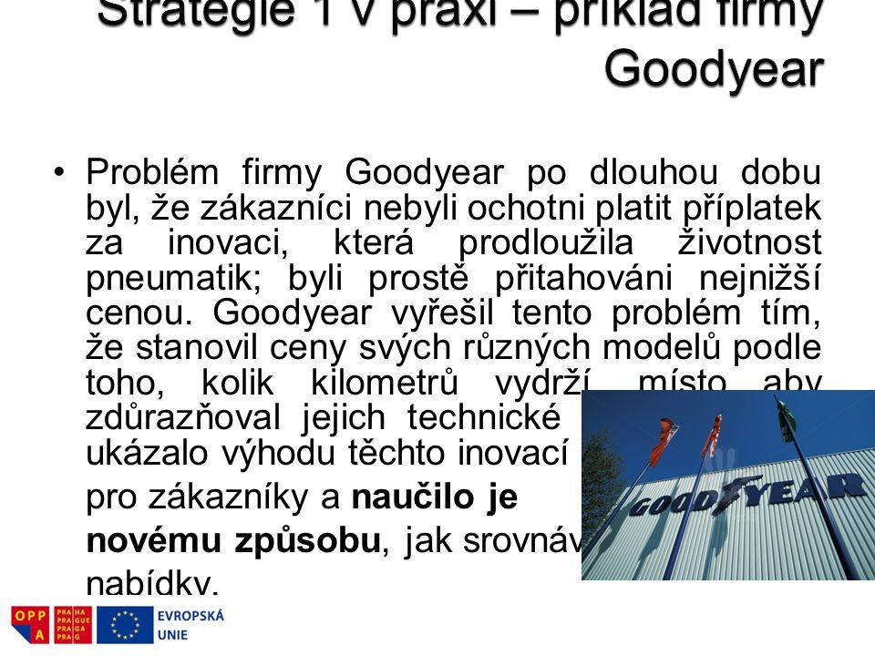 Strategie 1 v praxi – příklad firmy Goodyear