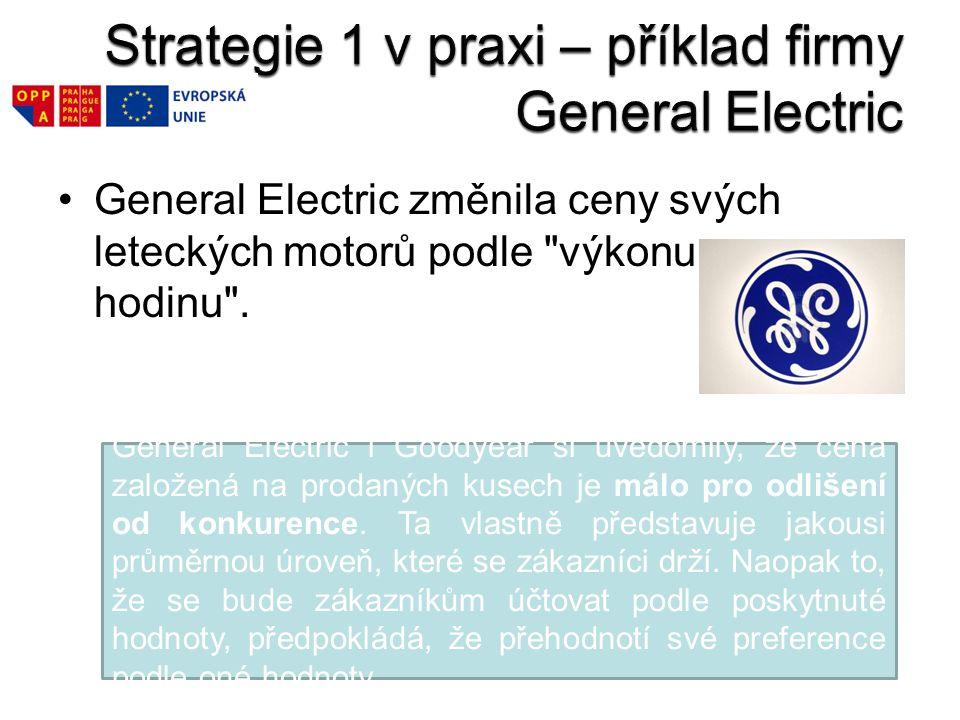 Strategie 1 v praxi – příklad firmy General Electric