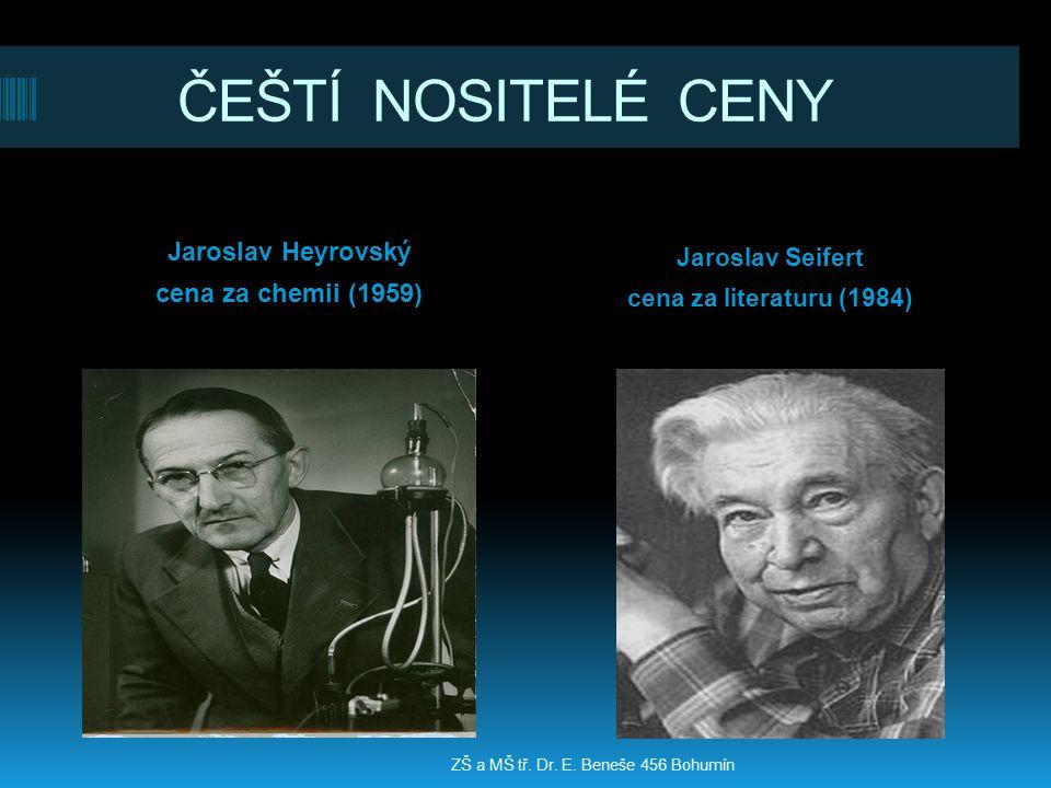 ČEŠTÍ NOSITELÉ CENY Jaroslav Heyrovský cena za chemii (1959)