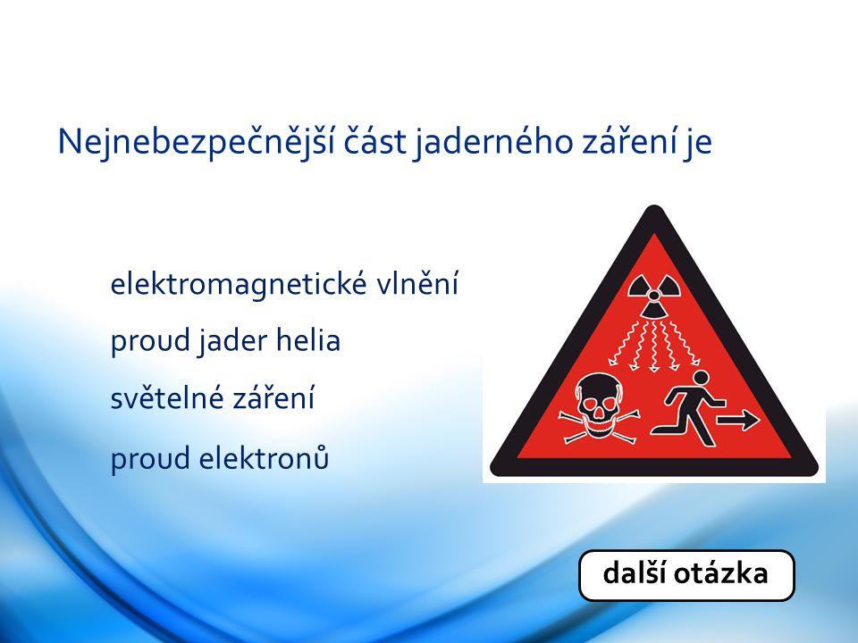 Nejnebezpečnější část jaderného záření je