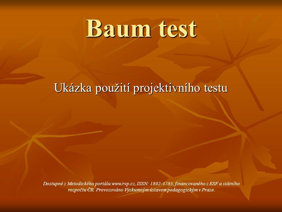 Ukázka použití projektivního testu