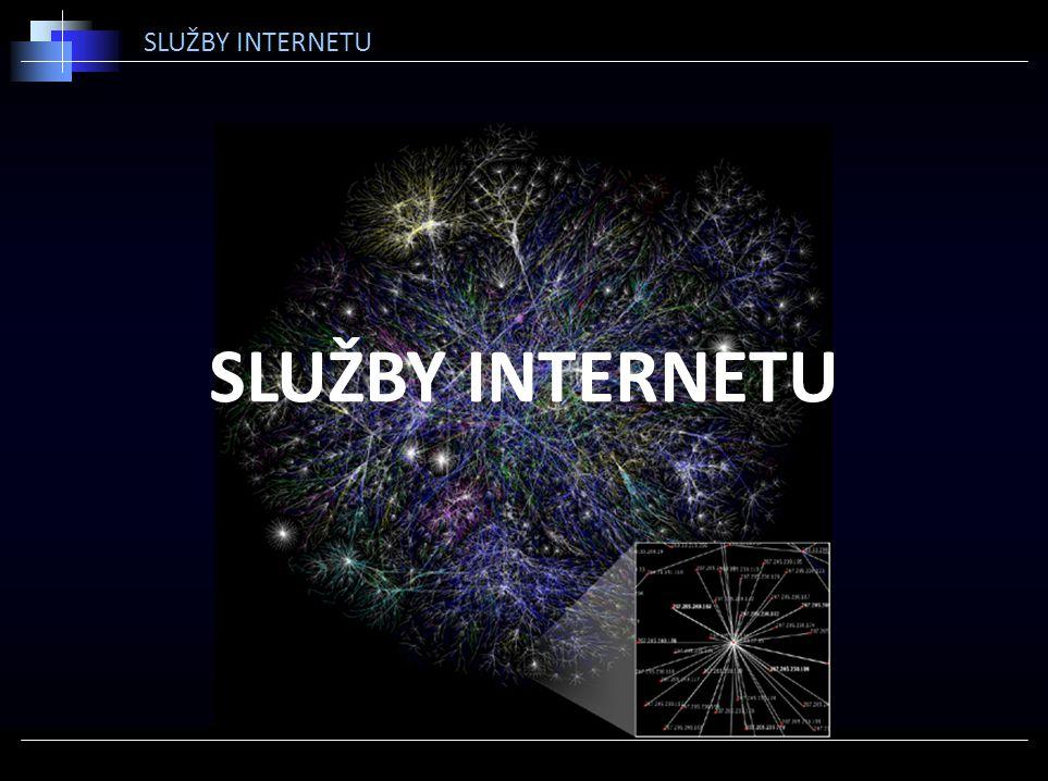 SLUŽBY INTERNETU SLUŽBY INTERNETU
