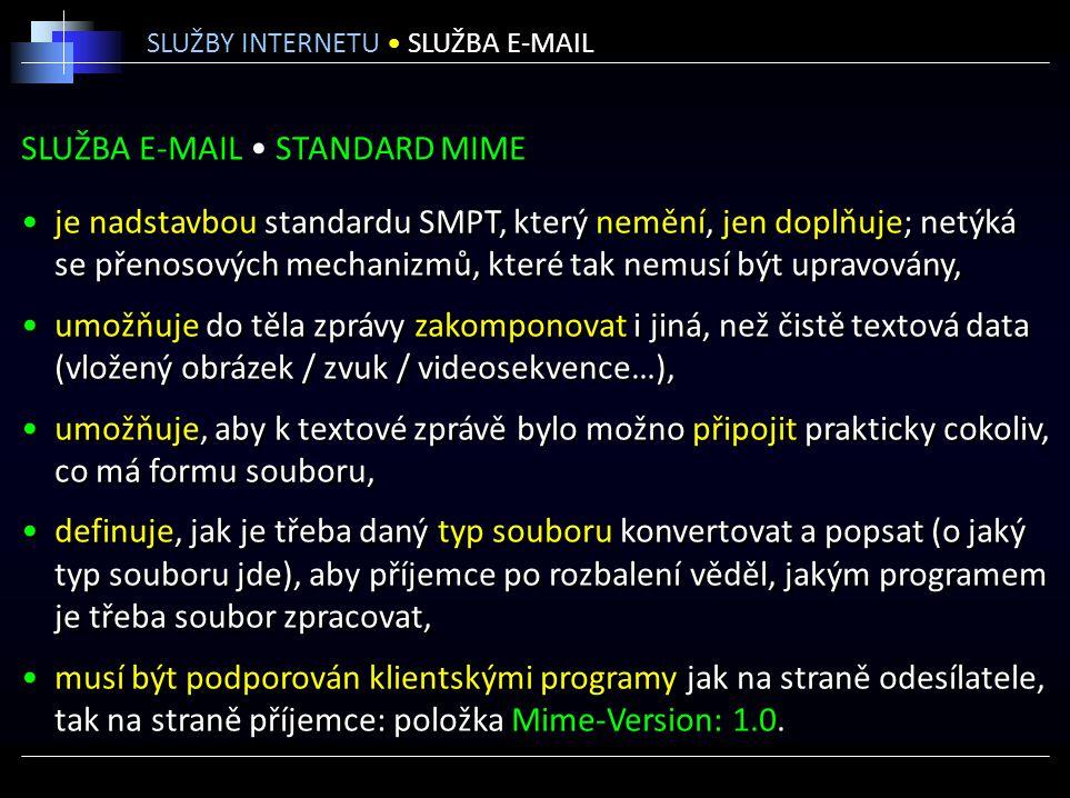SLUŽBA E-MAIL • STANDARD MIME