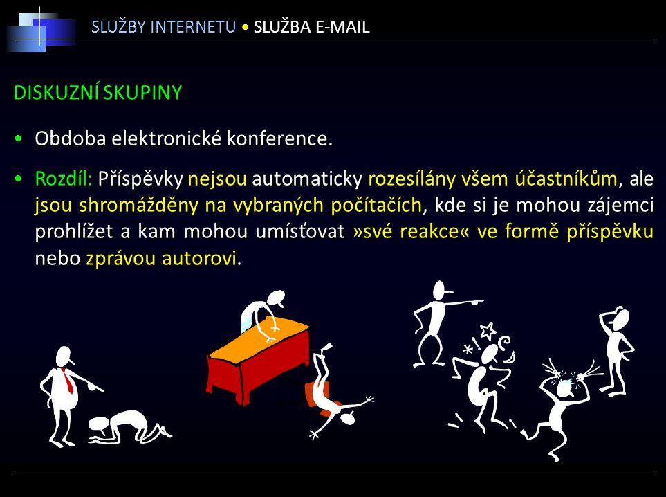 Obdoba elektronické konference.