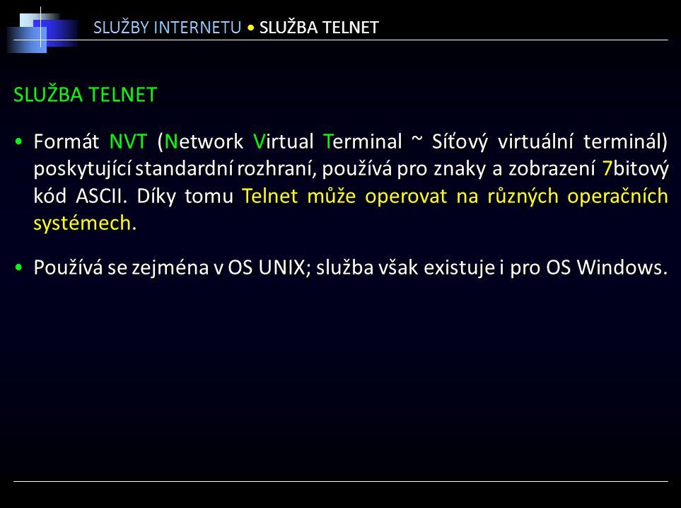Používá se zejména v OS UNIX; služba však existuje i pro OS Windows.