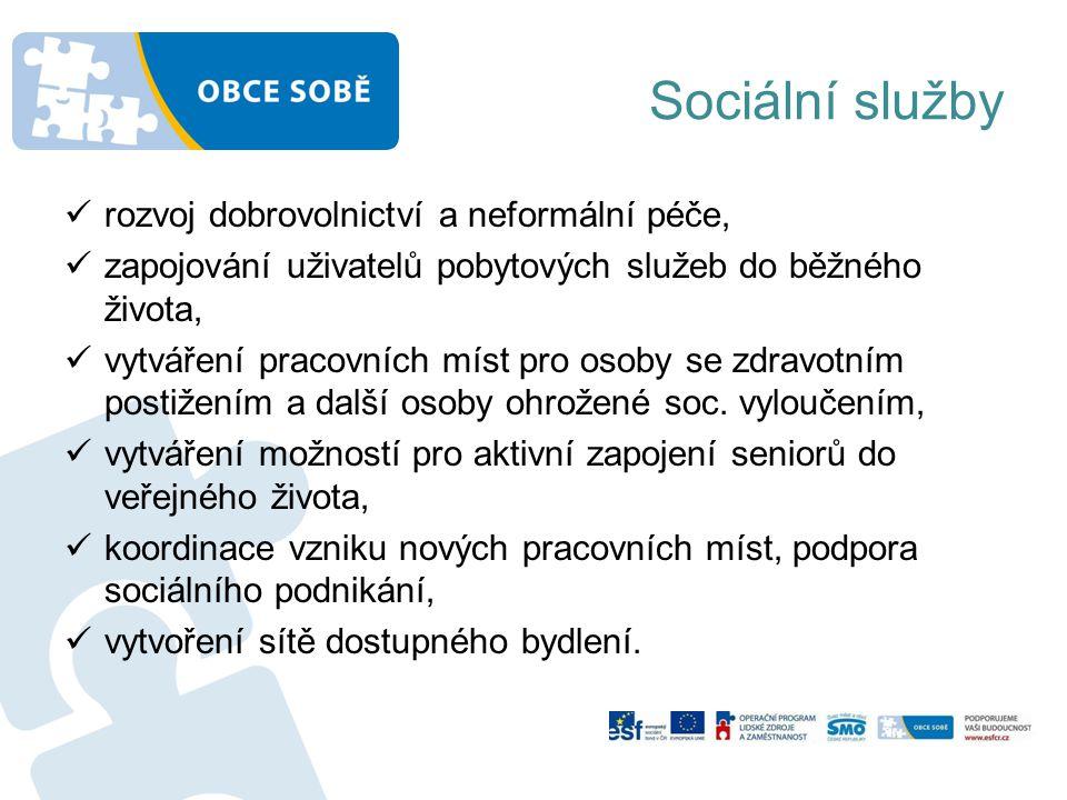 Sociální služby rozvoj dobrovolnictví a neformální péče,