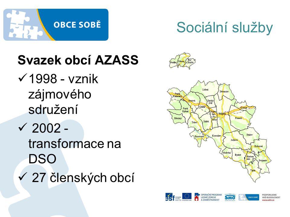 Sociální služby Svazek obcí AZASS 1998 - vznik zájmového sdružení