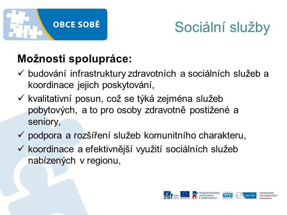 Sociální služby Možnosti spolupráce:
