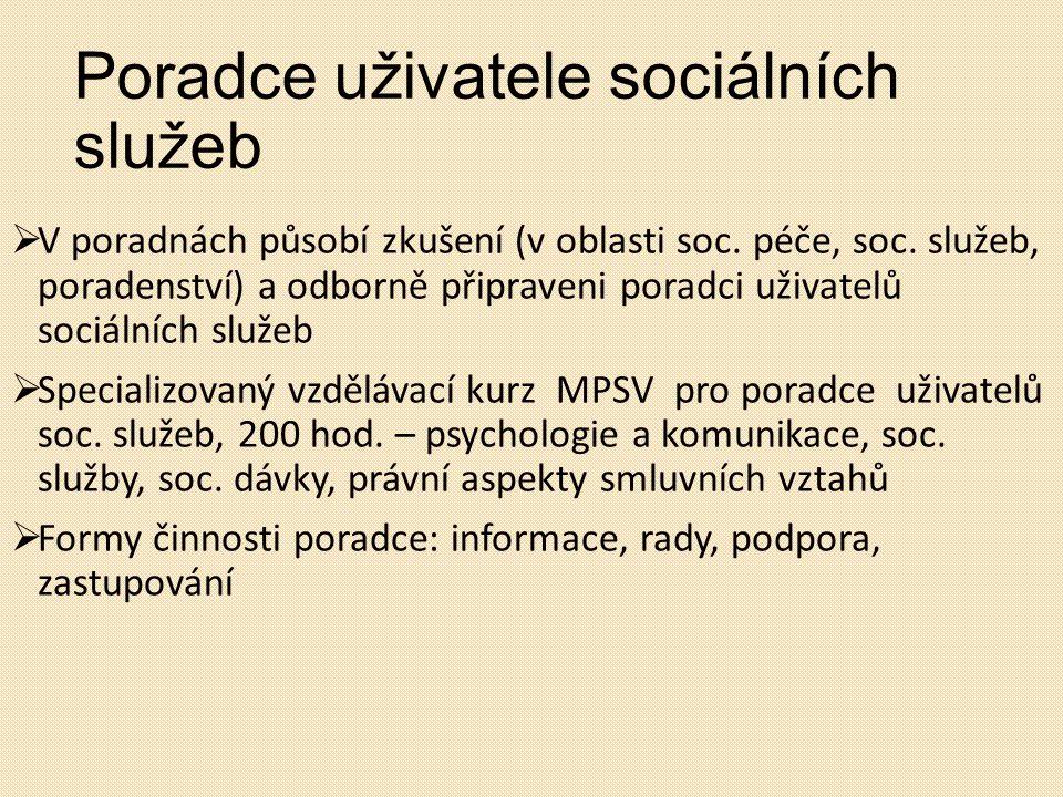 Poradce uživatele sociálních služeb