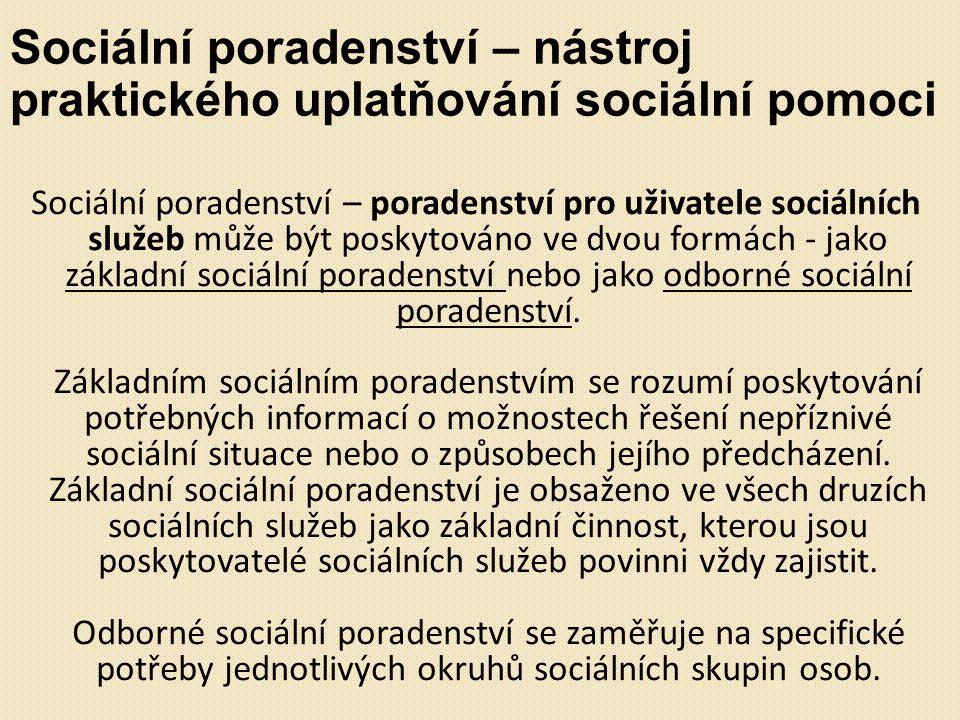 Sociální poradenství – nástroj praktického uplatňování sociální pomoci