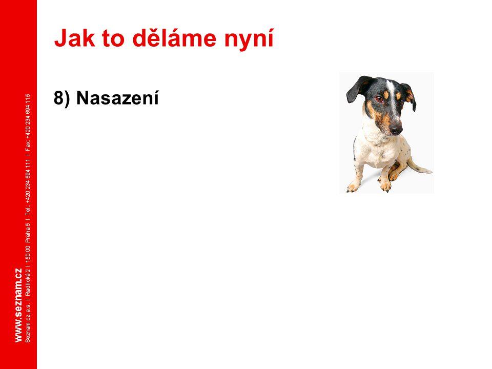 Jak to děláme nyní 8) Nasazení www.seznam.cz