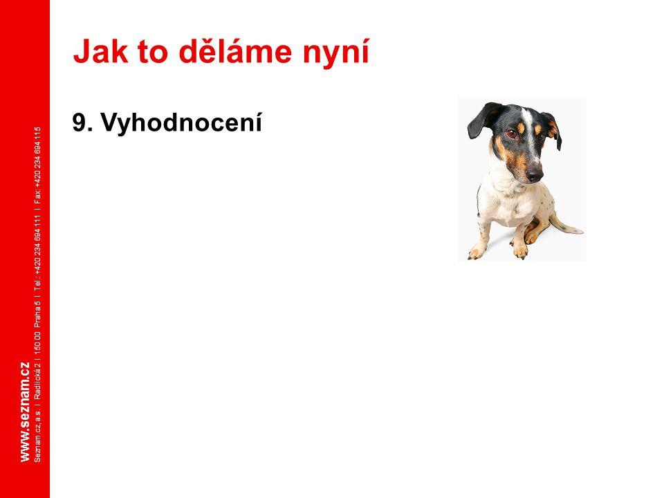 Jak to děláme nyní 9. Vyhodnocení www.seznam.cz
