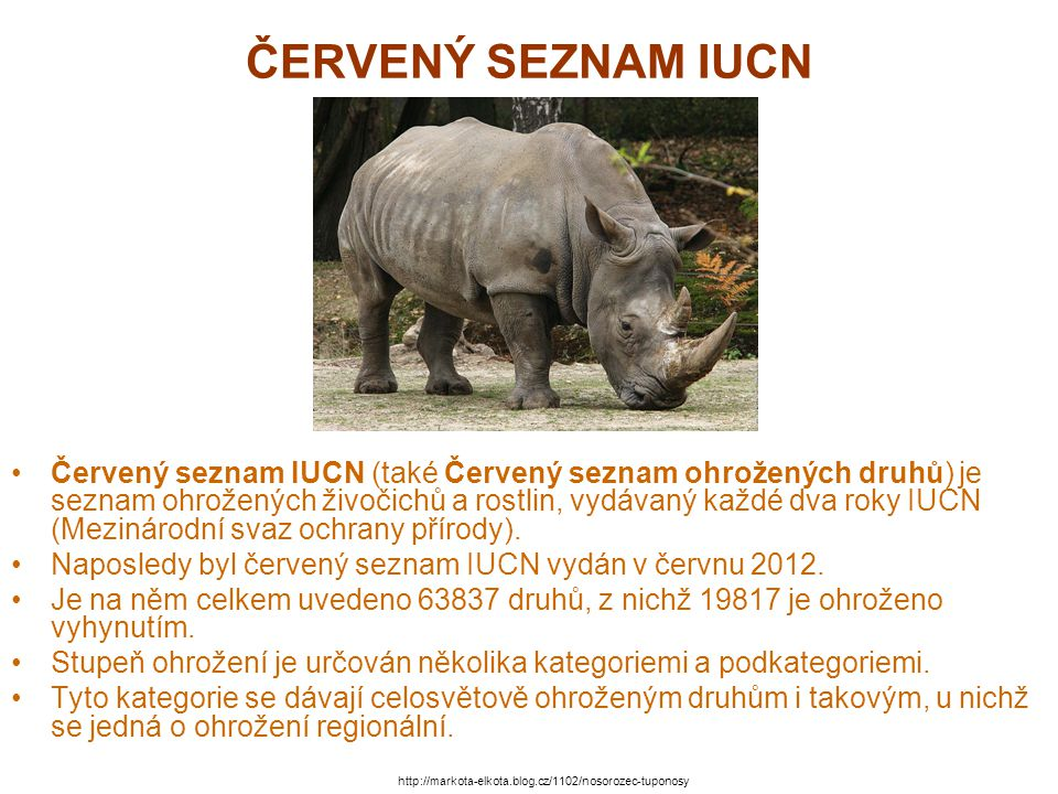 ČERVENÝ SEZNAM IUCN