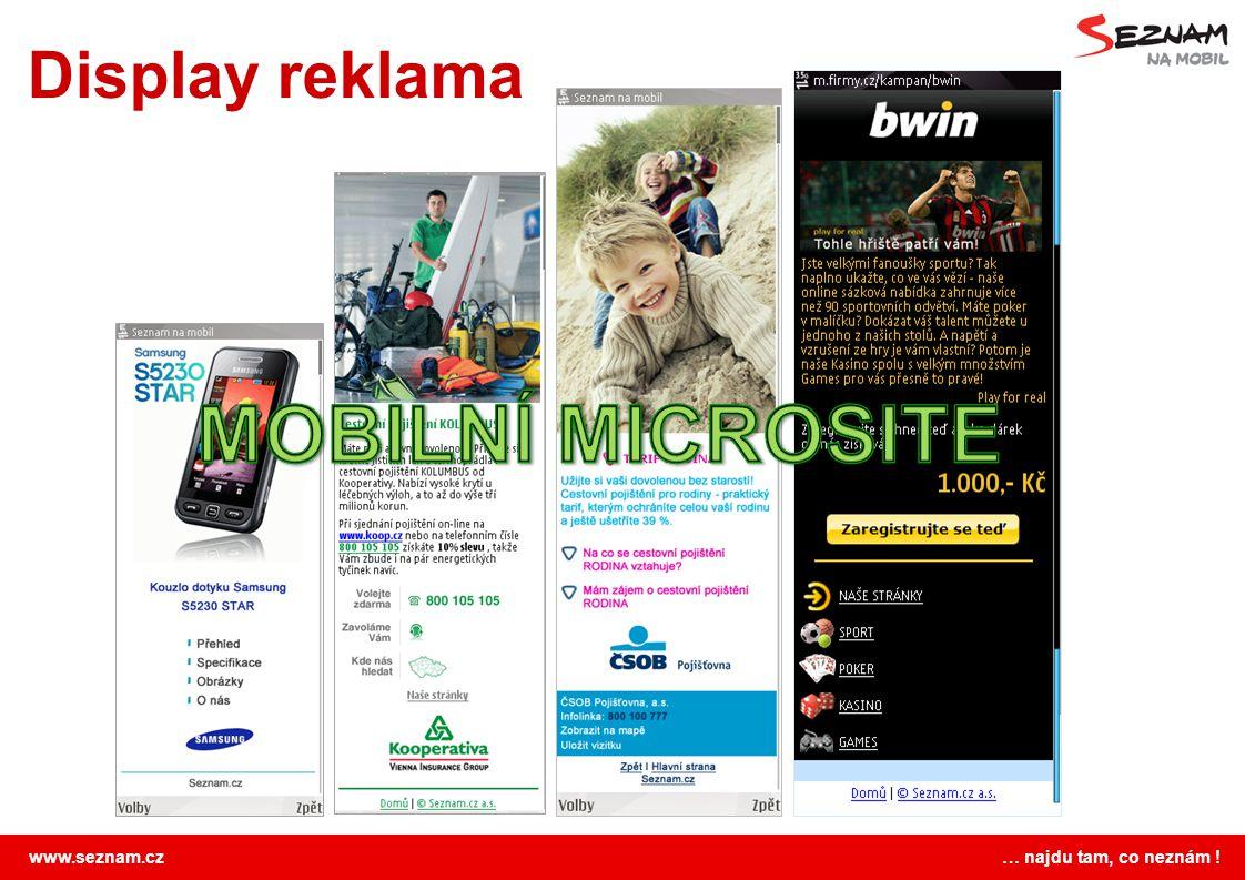 Display reklama MOBILNÍ MICROSITE