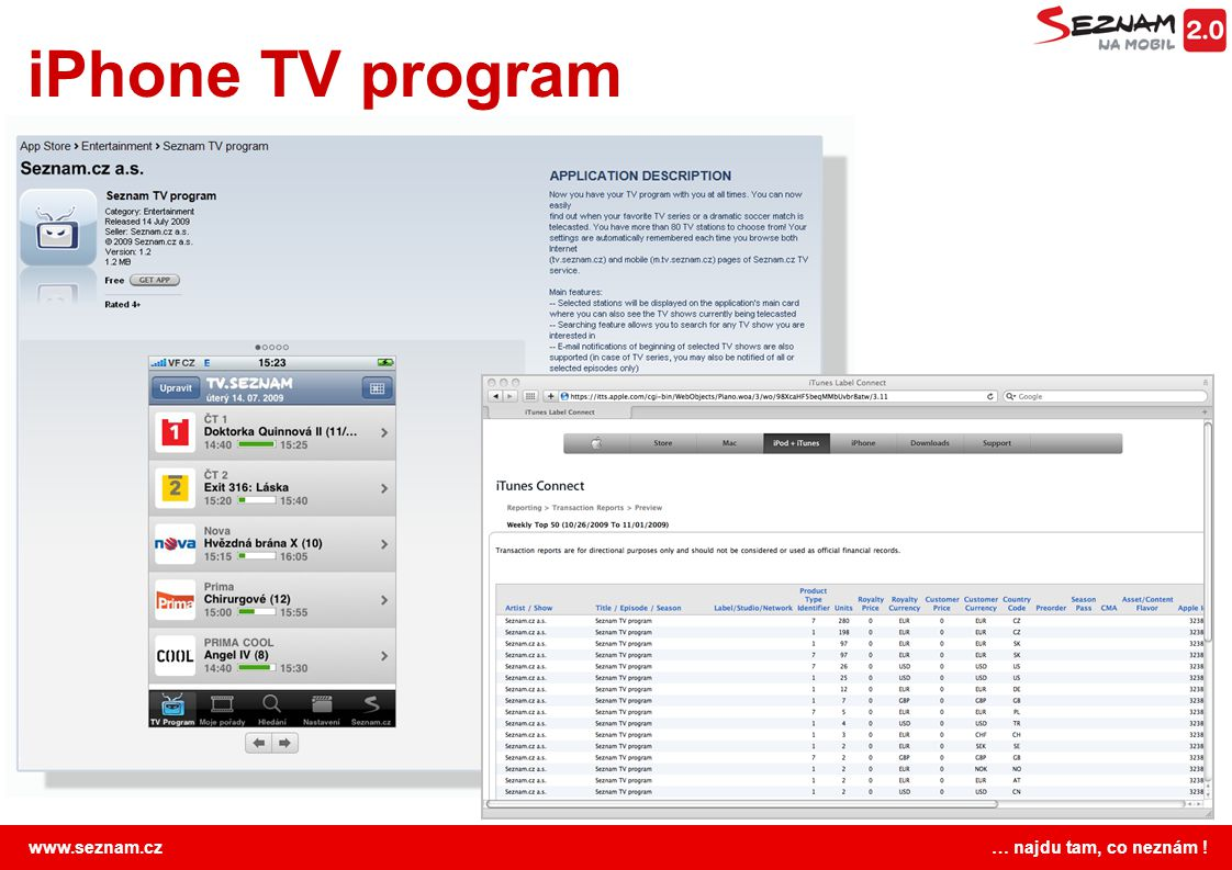 iPhone TV program