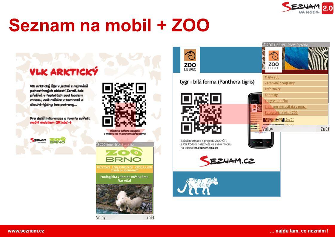 Seznam na mobil + ZOO Benefit pro návštěvníky