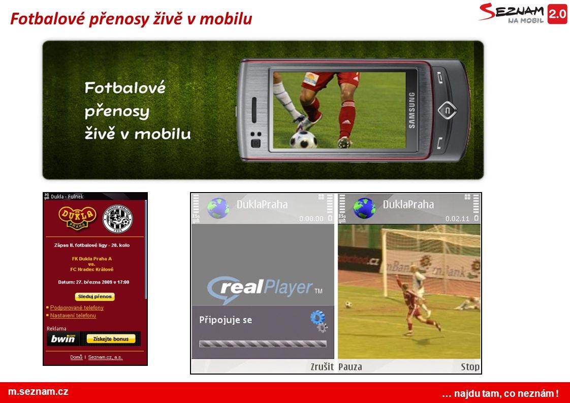 Fotbalové přenosy živě v mobilu