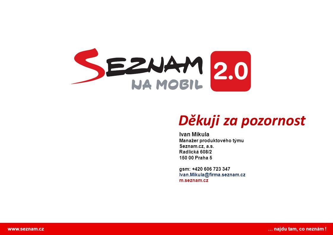 Děkuji za pozornost Ivan Mikula Manažer produktového týmu