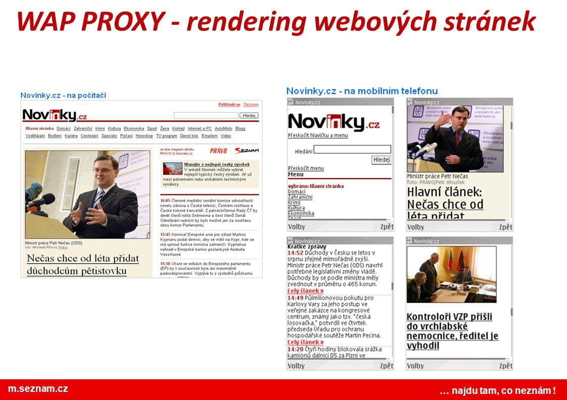 WAP PROXY - rendering webových stránek