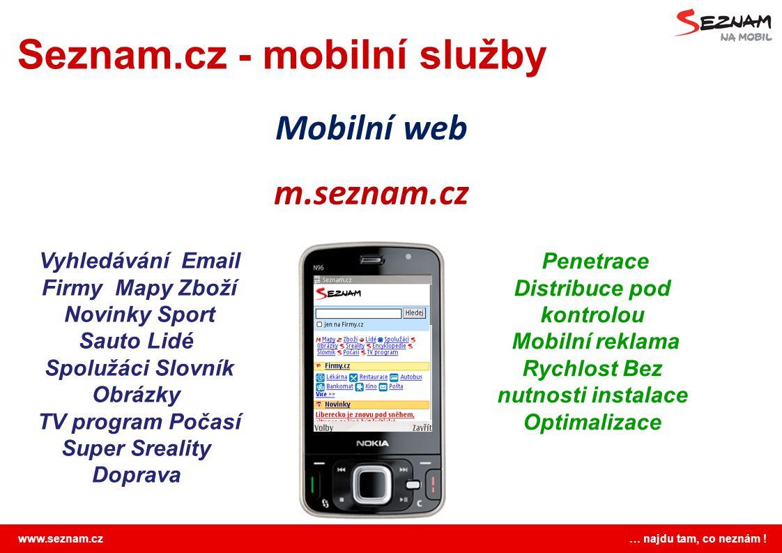 Seznam.cz - mobilní služby